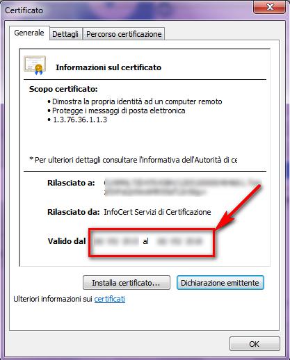 certificati per cns