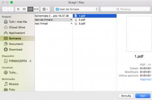 mac seleziona file