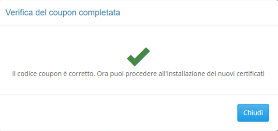 verifica-ok-per-codice-coupon